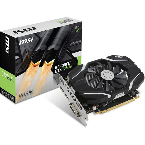Placa De Vídeo Gamer Gtx1050ti 4gb Ddr5 Msi Geforce Gsync