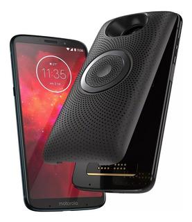 Celular Moto Z3 Play + Mod Stereo Speaker Black Envio Gratis