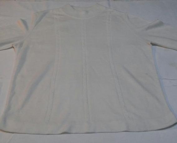 Sweater De Hilo Mujer Media Estación Talle M
