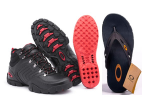 Kit Bota Oakley Flak Low + Chinelo Oakley Operative 2.0