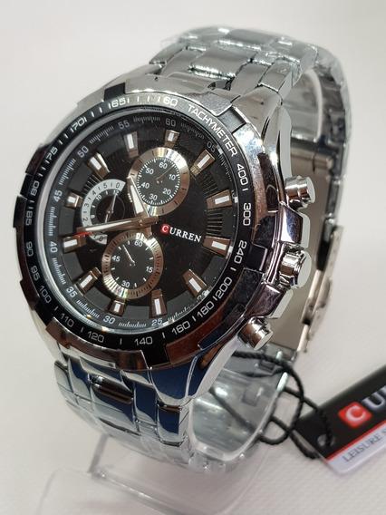 Relógio Masculino Curren 8023 Original Luxo Importado Aço