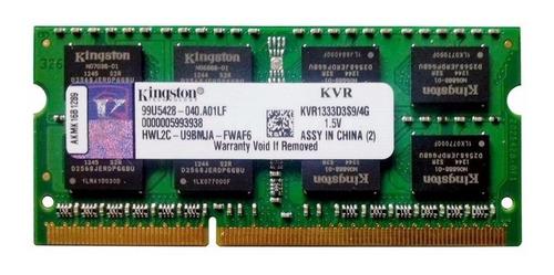 Memória RAM ValueRAM color Verde  4GB 1x4GB Kingston KVR1333D3S9/4G