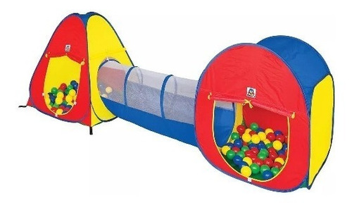 Barraca Toca Túnel 3x1 Infantil Tipo Piscina De Bolinhas