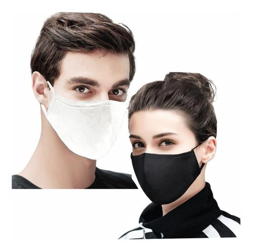 10 Máscaras De Tecido Duplo Algodão Lavável Não Descartável