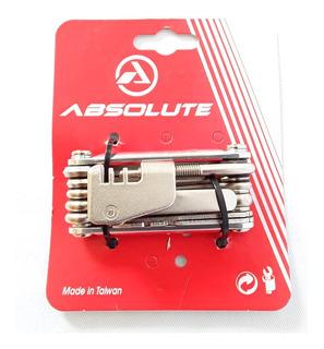Kit Ferramentas Canivete Bicicleta Mtb Absolute Ys-287 12f