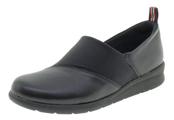 Sapato Feminino Salto Baixo Usaflex - Ab9503 Preto