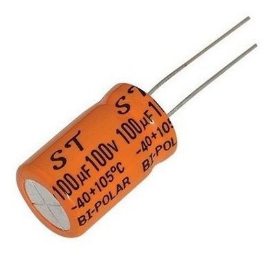 Capacitor Bipolar 100x100 Pct C/ 1 Peça
