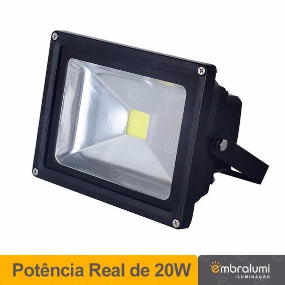 4 X Refletor De Led - Holofote Branco Frio 20w