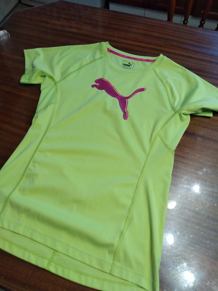 Remera Puma Con Estampa T Small Verde M