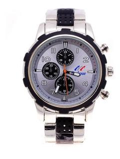 Reloj Hombre Malla Y Caja Metal Detalle Color D208