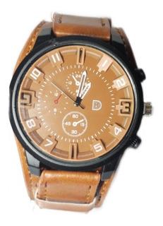 Reloj Pulsera Hombre Malla Eco Cuero X 4 Oferta