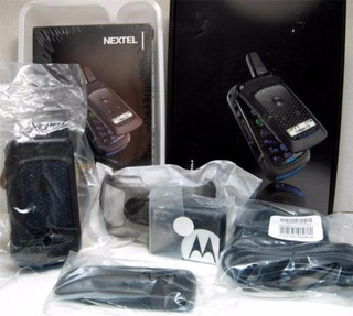 Nextel I576 Gris Black Y Caja Rugged Phone Films En Vidrios