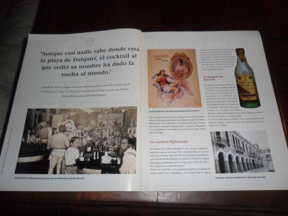 Publicidad 1996 Ron Bacardi Daiquiri Cocktail Cuba Botella