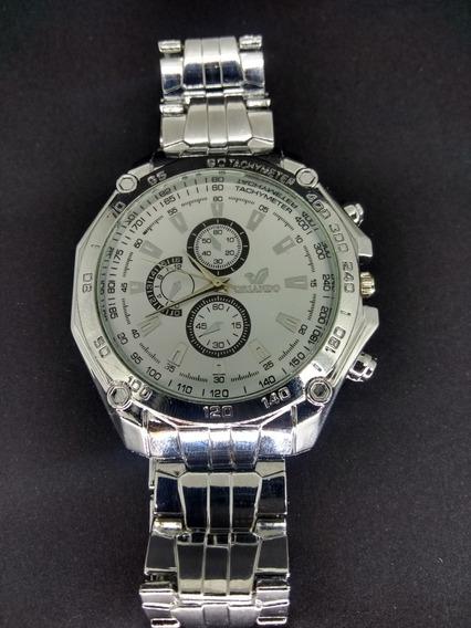 Relógio Prata Brato Quartz Analógico