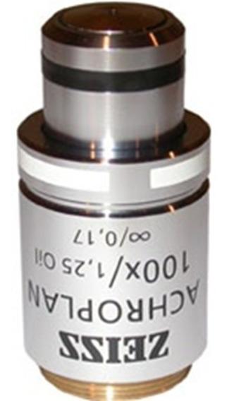Objetiva Achroplan 100x/1,25 (ref. 440066) Zeiss Alemanha