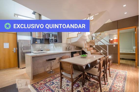 Apartamento No 13º Andar Mobiliado Com 2 Dormitórios E 2 Garagens - Id: 892928036 - 228036