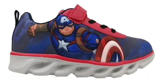 Zapatillas Capitan America Marvel Con Luces Fty Calzados