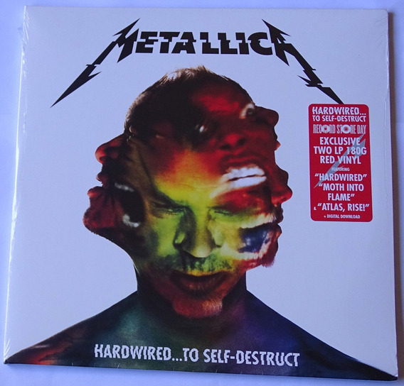 Lp Duplo Metallica Hardwired To Self Destruct 180g Vermelho