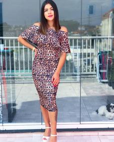 Vestido Midi Tubinho Cigana Feminino Moda Evangélica Casual