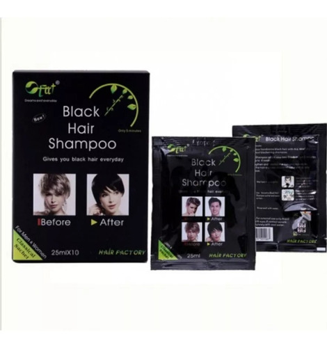 Shampo Pinta Canas En 5 Min-black Hair S - L a $280