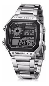 Reloj Casio Ae1200 Mapa Mundial - Original