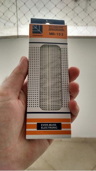 Photoboard Breadboard 830 Furos Pinos Protótipo Eletrônica