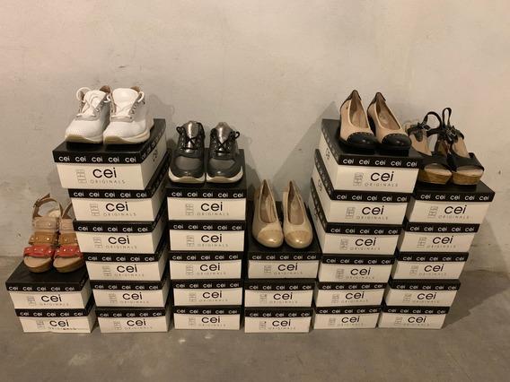 Lote Zapatos De Cuero Primera Calidad -saldo-