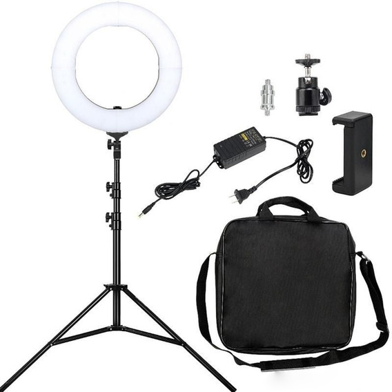 Ring Light Pro 35cm 336 Leds 60w Maquiagem Youtuber Trpé 2 M