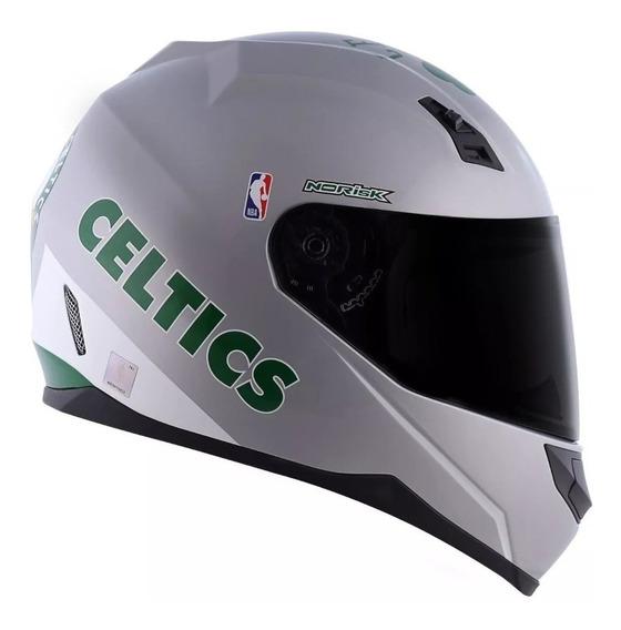 Capacete Norisk Ff391 Nba Boston Celtics Silver/prata