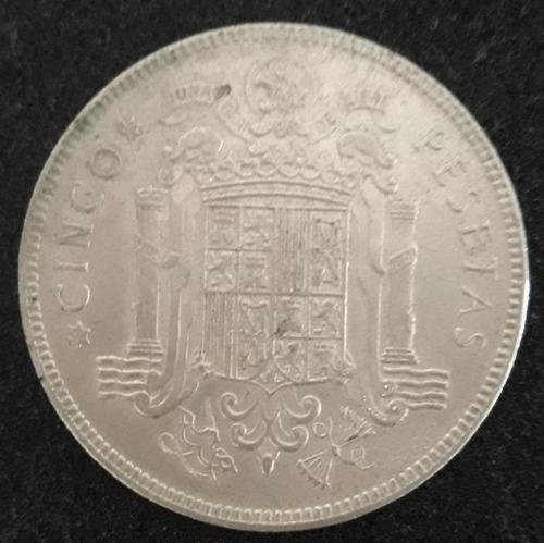 Imagem 1 de 4 de Moeda Cinco Pesetas Ano 1949 Espanha