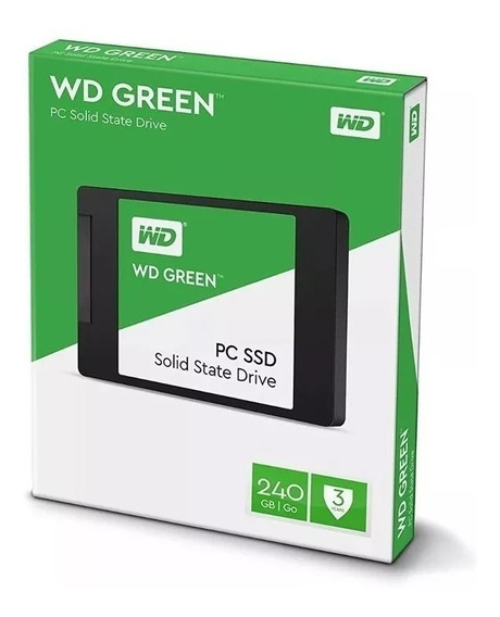 Hd Ssd 240gb Wd Green 540mb/s 7mm 2,5 Para Pc Gamer