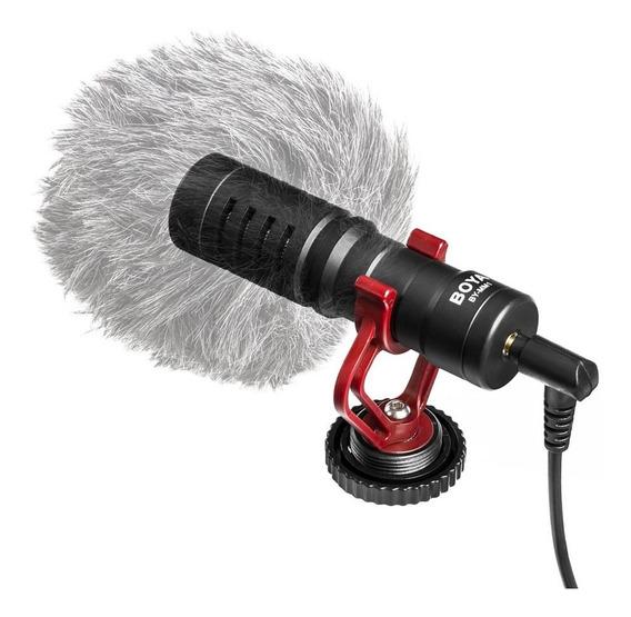 Minimicrófono Cardioide Electret Boya By-mm1 De Metal