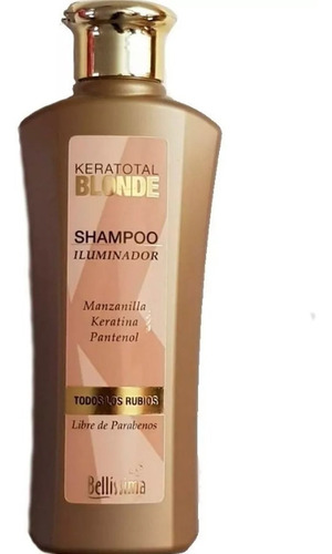 Shampoo Para Cabellos Rubios Bellisima Keratotal Blonde 270m