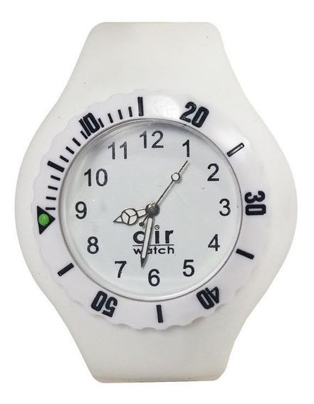 Relógio Pulso Air Watch Pulseira De Silicone M7 Branco