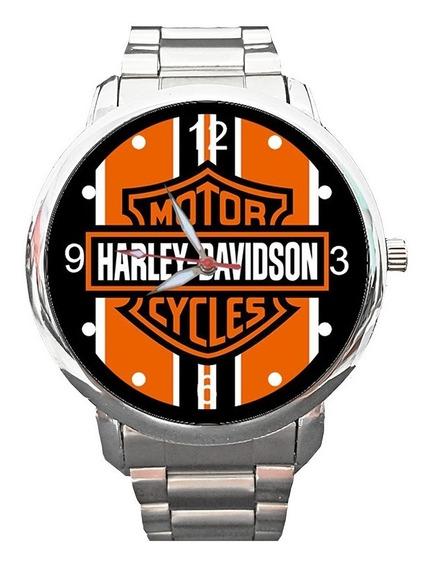 Relógio Hd Tradicional Faixas Moto Motociclismo Custom