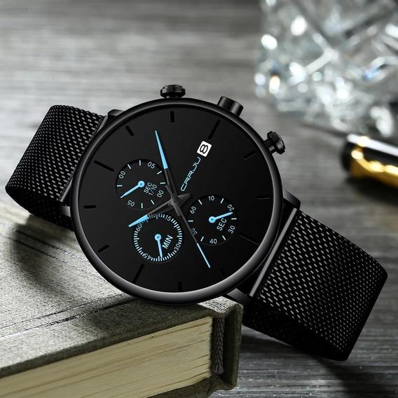 Relógios Casual De Luxo Ponteiros Neon Novo Lançamento Original A Prova D