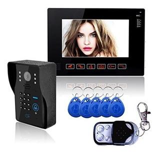 9 Video Door Door Doorbell Intercom System Compatible Con Rf
