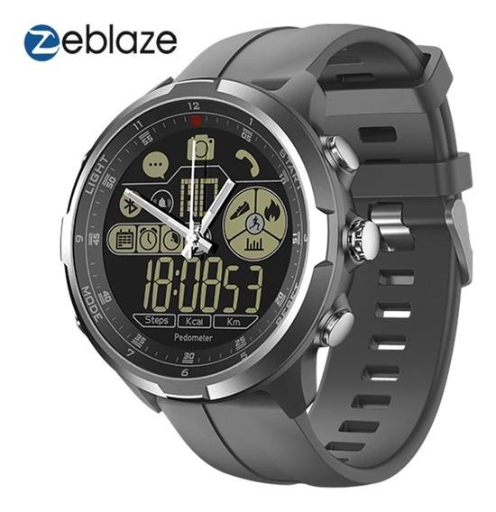 Relógio Inteligente Zeblaze Vibe 4 Hibrid Cinza Pron Entrega