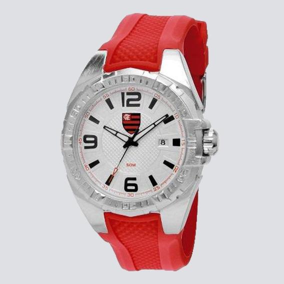 Relógio Technos Flamengo Vermelho E Prata