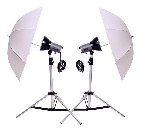 Kit De Iluminação Para Studio Fotográfico Collor Flash 4