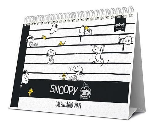 Calendário De Mesa 2021 Snoopy 210515 Spiral Sno  Pt 1 Un