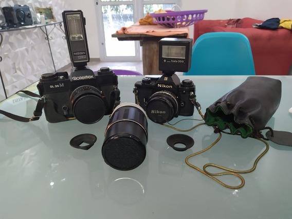 Câmera Rolleiflex Sl35m E Nikon Em