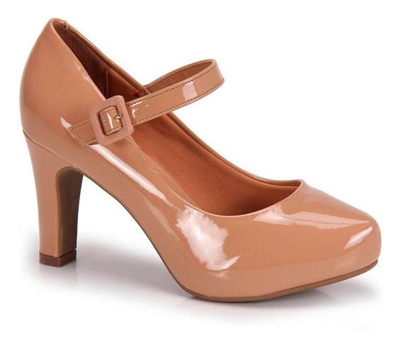 Sapato Scarpin Vizzano Boneca Verniz Nude