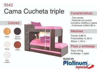 Cama Cucheta Gabinete Cajón - Envio Sin Cargo Al Gran Mza