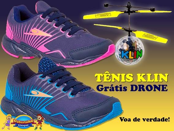 Tenis Drone Mania Klin Azul Ou Pink-grátis Brinquedo Drone