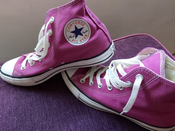 Zapatillas Converse All Star Numero 38 Color Violeta Botitas