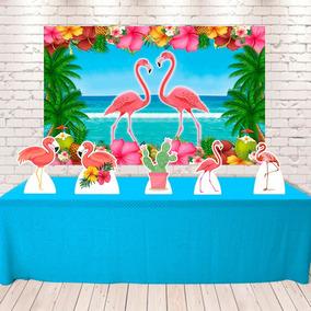 Kit Painel+displays Festa Infantil Flamingo , Cenários