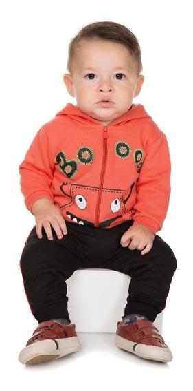 Roupa De Bebê Menino Conjunto Moletom Casaco E Calça Saruel