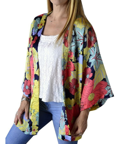 Kimono Saco Estampado Mujer The Big Shop