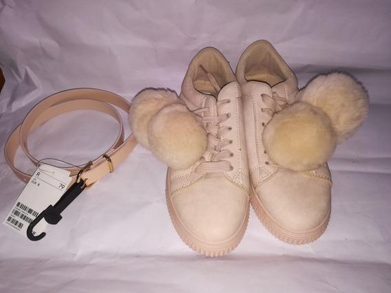 Zapatos Para Dama Balu Nuevos Talla 38/39 Con Correa